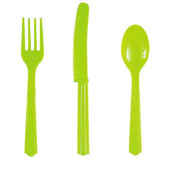 Unique Party Assorted Cutlery Set (Pack Of 18)