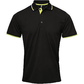 Le premier ministre Mens Coolchecker contraste garniture entreprise Workwear Polo Shirt