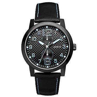 Guess Men's Designer Watch Black Blue - W95111G3