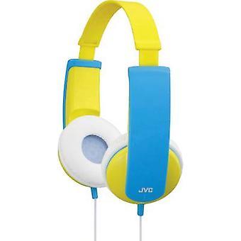 JVC HA-KD5-Y-E Children On-ear headphones On-ear Volume limiter, Light-weight headband Yellow, Blue