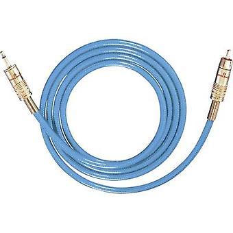 RCA/jack audio/phono kabel [1x RCA plug (phono)-1x Jack plug 3,5 mm] 5 m blauw vergulde connectors Oehlbach NF 113