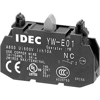 Idec YW-E01 Contact 1 breaker momentary 240 V AC 1 pc(s)