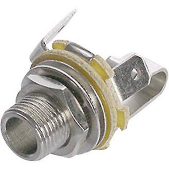 Rean AV NYS 229 6.35 mm audio jack Socket, vertical vertical Number of pins: 2 Mono Silver 1 pc(s)