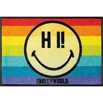 wash+dry Fußmatte Smiley Rainbow waschbare Fußmatte
