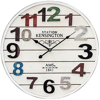 AMS 9538 wall clock quartz analog knows about antique vintage retro shabby