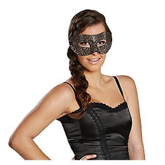 Dominó de plata diamante bling bling de máscara de carnaval accesorios de carnaval