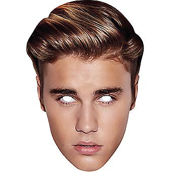 Justin Bieber carte superstar en carton masque Carnaval