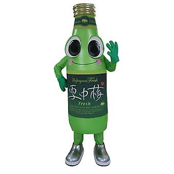 mascot bottle soda green, smiling and funny SPOTSOUND