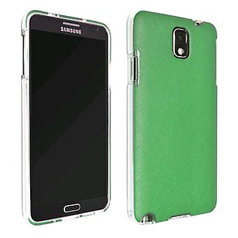 Caso de Slider Technocel pele para Samsung Galaxy Note 3 (verde claro/hortelã)