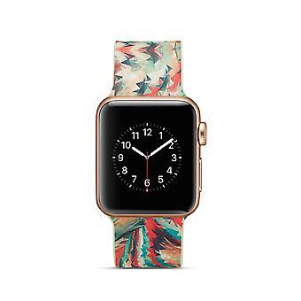 Siliconen horlogebandje voor Apple Watch 4 40mm, 3/2/1 38mm-kleurrijke geometrische Patter