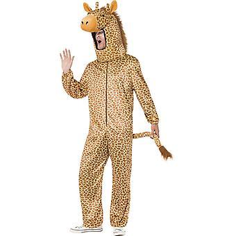 Žirafa kostým oranžová s Bodysuit a Hood