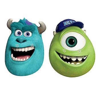 Sulley and Mike Party Card Fancy Dress Masks set of 2 (Monsters University)