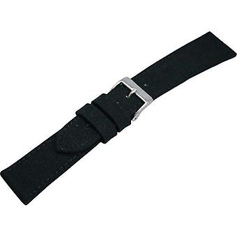 Morellato 2 A01U2779110019CR24 CORDURA/leather strap, 24 mm/20 mm Width, Man, black