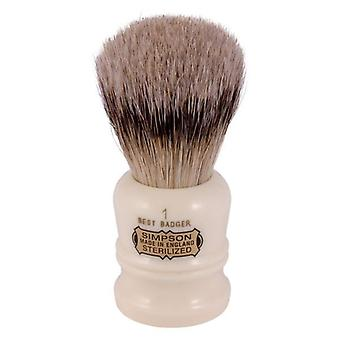 Simpsons Duke D1 Best Badger Hair Shaving Brush Small - Ivory