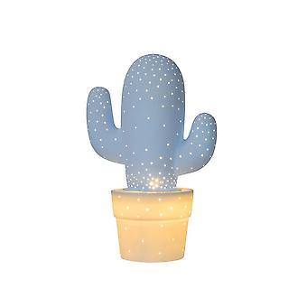 Lucide Cactus Retro Ceramics Pastel Blue Table Lamp