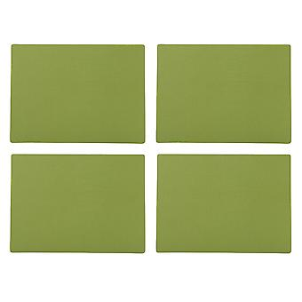 English Tableware Co. Bonded Leather Placemats, Sage