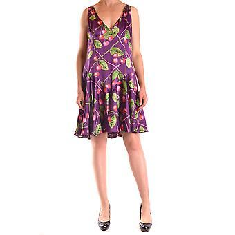 John Galliano Ezbc164017 Women's Multicolor Silk Dress