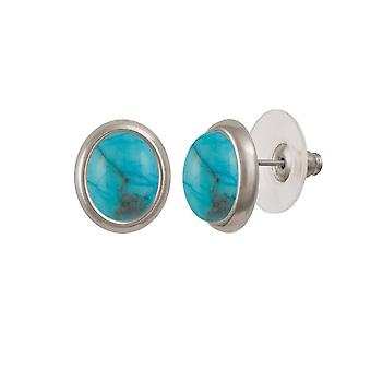 Eternal Collection Minuet Turquoise Silver Tone Stud Pierced Earrings