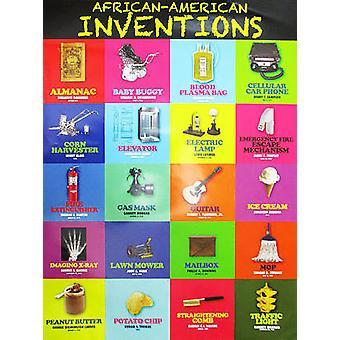 Afrikkalainen Amerikan keksi jöiden juliste (väri) (18x24)