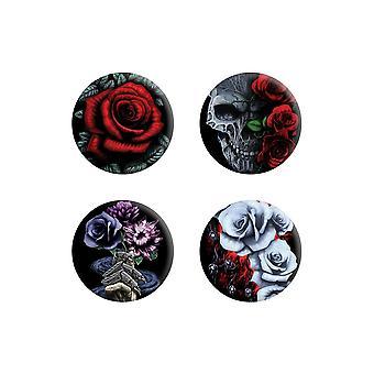 Requiem Collective Cardinal Rose Badge Pack
