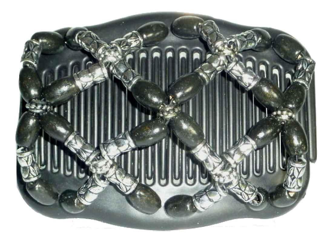 Chignon Comb 708 Black & Silver from TIKITIBOO by Pashmina & Silk