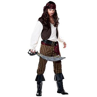 Rogue Pirate of Caribbean Buccaneer Swashbuckler Story Book Week Mens Costume
