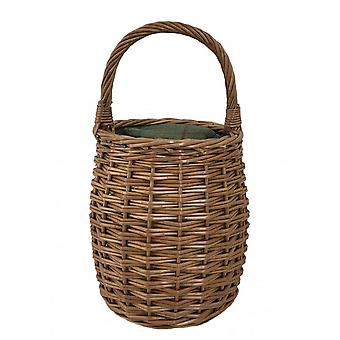Verde Tweed miel olla forma picnic Cooler Wicker Basket