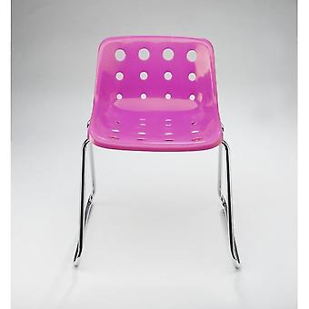 Loft Robin Day Sled Pink Plastic Polo Chair