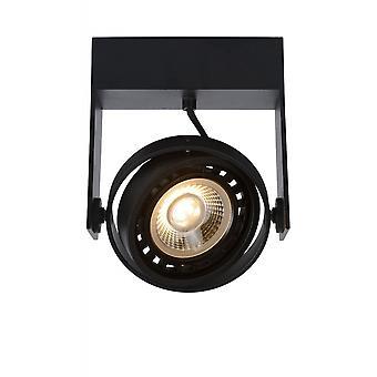 Lucide Griffon moderne Rechteck Aluminium schwarze Decke Spot-Licht