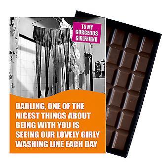 Śmieszne Lesbijskie urodziny prezent dla cywilnego partnera LGBT Pudełkowane czekolada powitanie karta obecny CDL142
