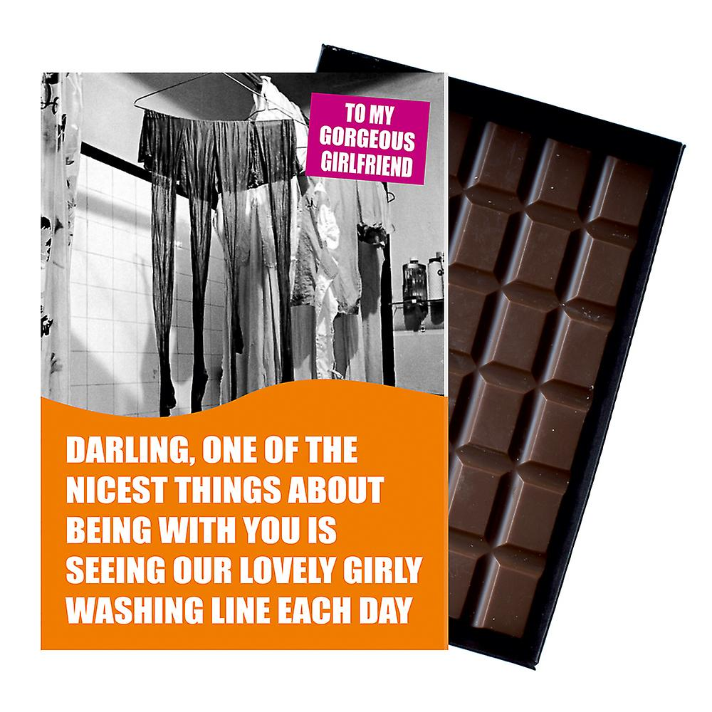 Funny Lesbian Birthday Gift For Civil Partner LGBT Boxed Chocolate Greeting Card Present CDL142