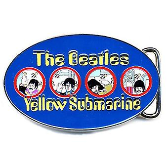 The Beatles Belt Buckle Yellow Submarine Portholes Blue new Official Metal