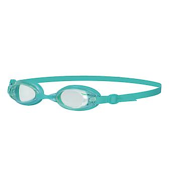 Speedo Jet starszych kobiet Panie anty UV mgły pływanie gogle - Clear/turkusowy