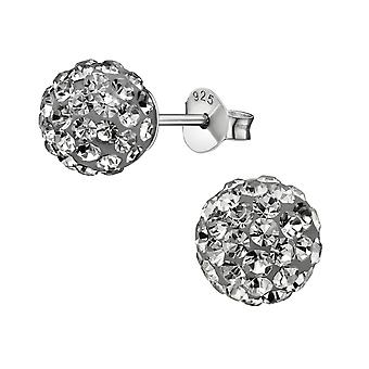 Ball - 925 Sterling Silber Crystal Ohrstecker - W10100X