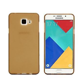 Samsung A5 2016 mål transparent guld - Coolskin3t