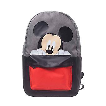 Mickey Mouse Backpack Mickey Face new Official Disney grey