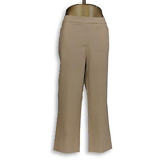Isaac Mizrahi Live! Women's Pants 24/7 Stretch Crop Beige A351754
