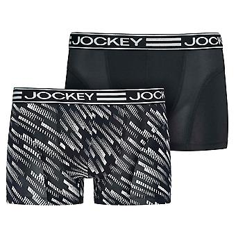 Jockey microfiber Active 2-pack trunk, stoffige wit, X-Large