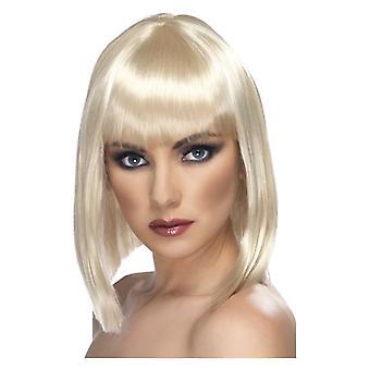 グラムかつら, 金髪, 短い、鈍フリンジ デザインの凝った服アクセサリー