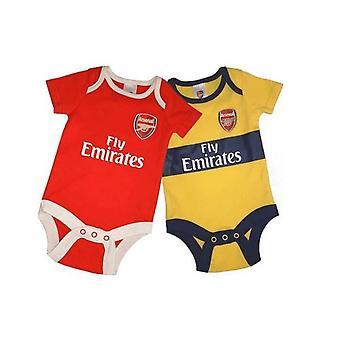Arsenal FC Baby Unisex Bodysuit (Pack Of 2)