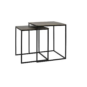 Light & Living Side Table Set Of 2 40x40x45 And 45x45x50cm Banos Antique Bronze