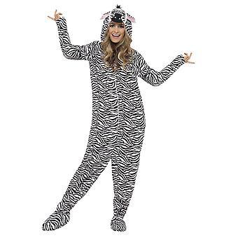 Gli adulti Zebra Fancy Dress Costume