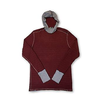 Agave Silver Anchor hooded knitwear in red