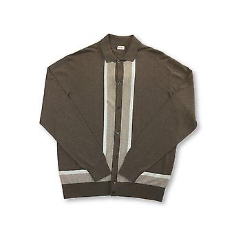 Luciano Barbera knitted shirt in brown