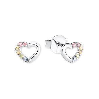 Prinzessin Lillifee Kinder Ohrringe Silber Herz bunt 2024376