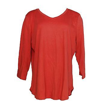 Isaac Mizrahi Live! Kvinder ' s top Essentials Pima Cotton Red A368549