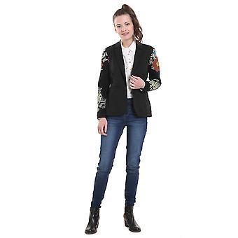 Desigual Women's Boise Knit Sleeve Blazer Jacket