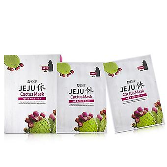 SNP Jeju Rest Cactus Mask (Nourishing) 10x22ml/0.74oz