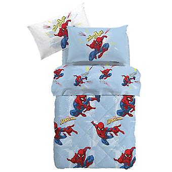 Spiderman tijd Caleffi winter quilt voor een eenpersoonsbed