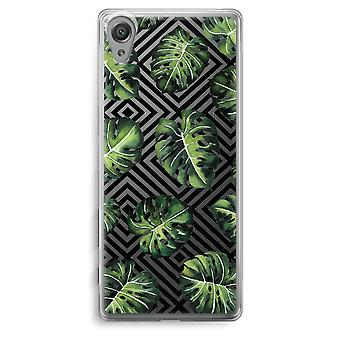 Sony Xperia XA Transparent Case - Geometric jungle